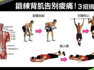 鍛練背肌告別痠痛!3招搞定