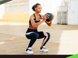 抗力球+彈力帶二招訓練 解決深蹲的致命錯誤屁股眨眼